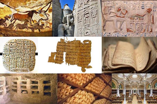 Illustration ecritures anciennes